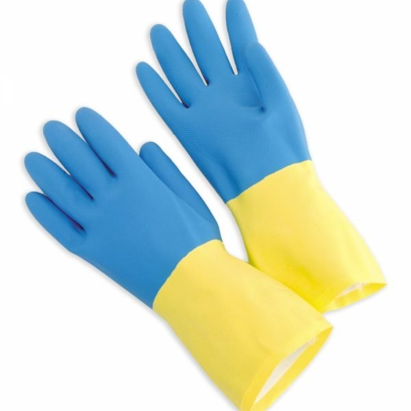 Blue Neoprene Over Yellow