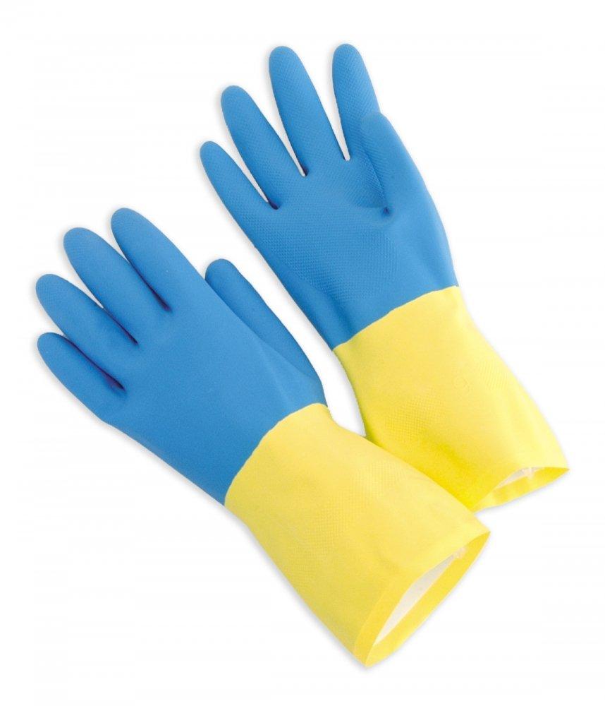 Blue Neoprene Over Yellow