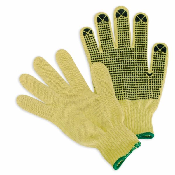 Cut Resistant Knit Gloves PVC Dots on 1 side