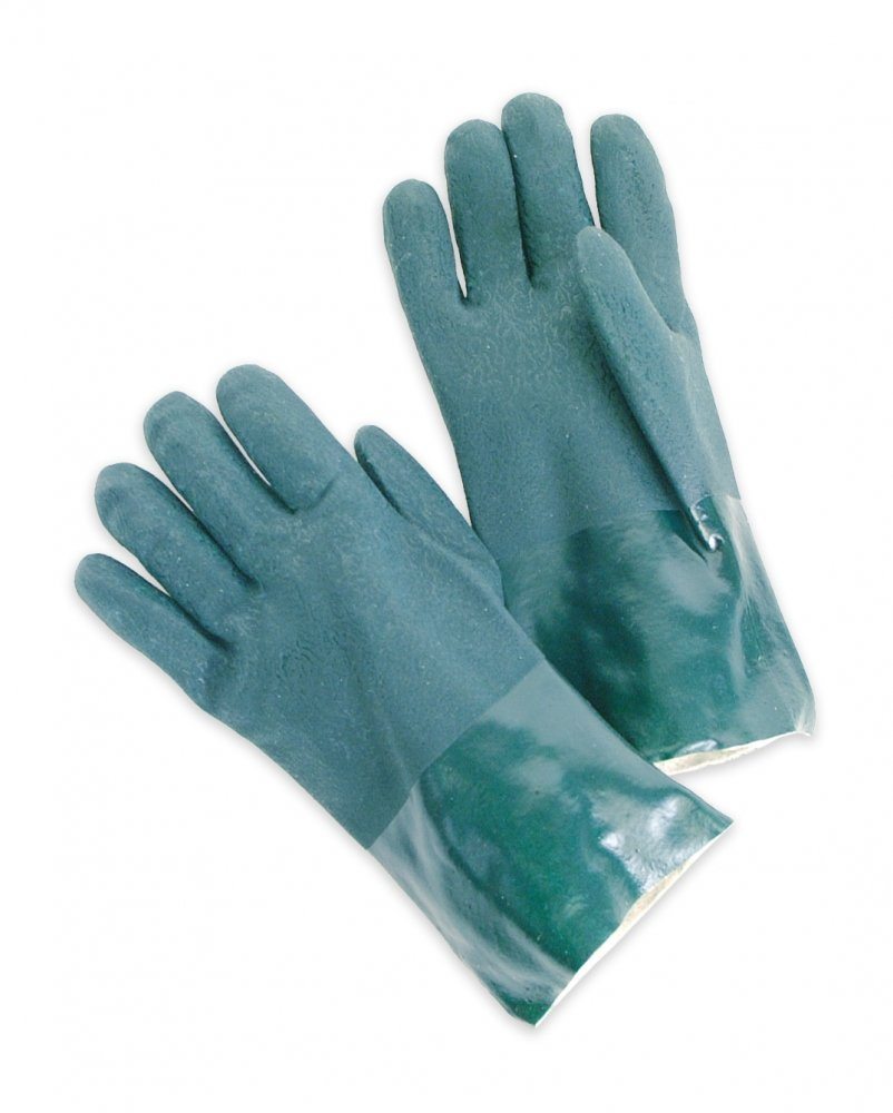 """Double Dipped PVC 12"""" Gauntlet, Jersey Lined, Rough Finish"""