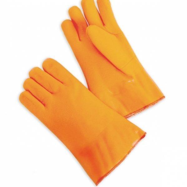 Foam-Lined PVC Fluorescent Orange Double Dipped