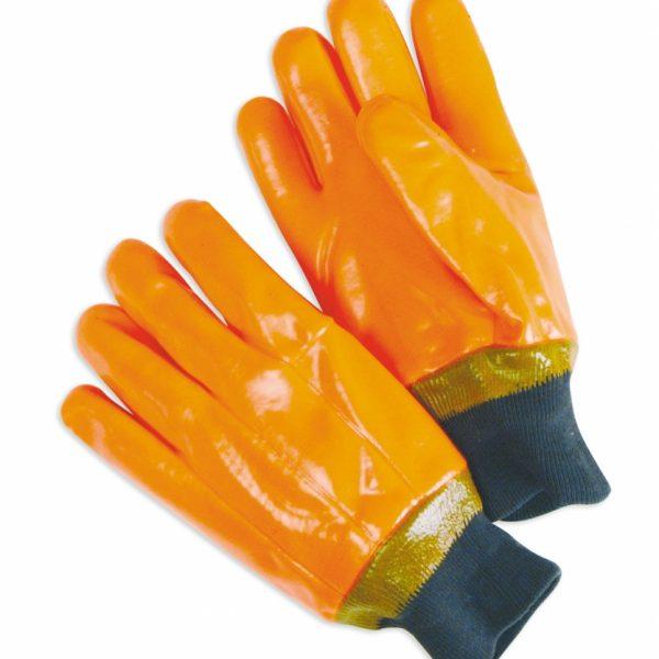Foam-Lined PVC Fluorescent Orange knit wrist