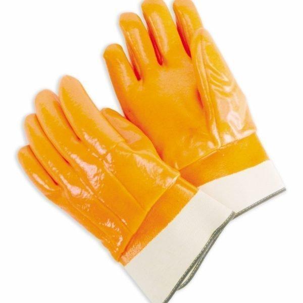 Foam-Lined PVC Fluorescent Orange, Rubberized Safety Cuff