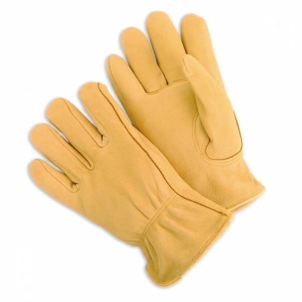 Grain Leather Drivers With Premium Deerskin, Keystone Thumb