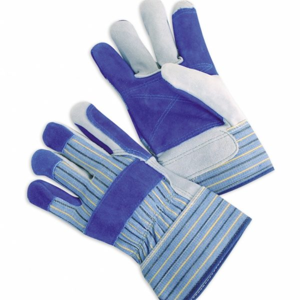 Select Shoulder Split Leather Palms With Blue Double Palm