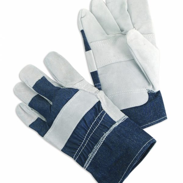 Shoulder Split Leather Palms With Patch Palm, Denim Back & Cuff