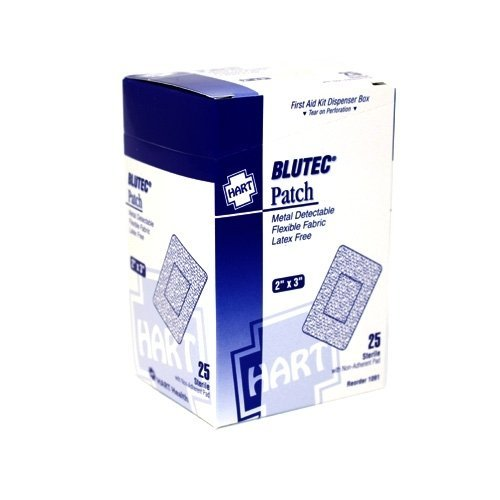 Blue Metal Detectable Adhesive Bandage - Large Patch