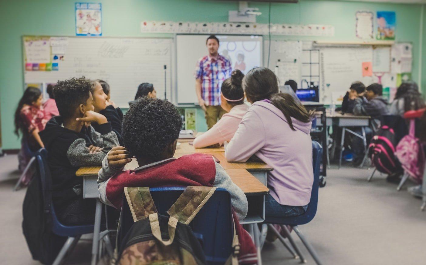 kids in classroom at school